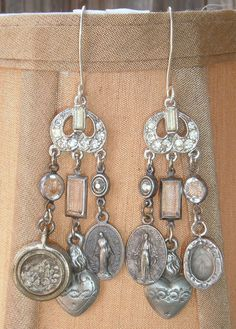 Relics Earrings I by metalcorset on Etsy, $375.00