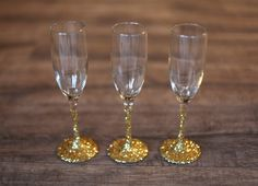 how to glitter champagne glasses - Google Search