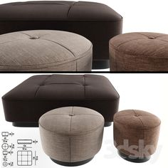 models: Other soft seating - Minnoti Jacques Poufs Fabric Sofa Furniture, Modern Furniture, Soft Seating, Design Seeds, Pouf Ottoman, Home Recipes, Sofa Set, Table And Chairs, Contemporary Style