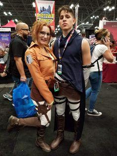 Hanji and Levi @ Comic Con 2017!