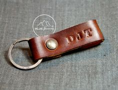 Custom Personalized Leather Keychain womens by NorthJourney