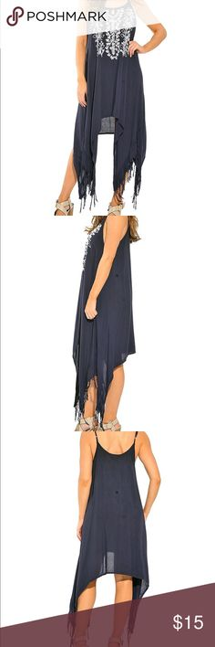 TODAY ONLY!!!Fringe sun dress New. Dresses High Low