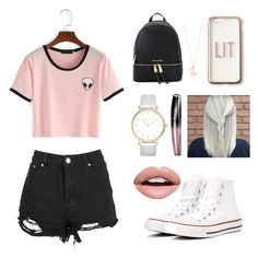 Untitled #1 by irena-6 on Polyvore featuring polyvore, мода, style, Boohoo, Converse, Michael Kors, Laura Ashley, Full Tilt, Missguided, Nevermind, Rimmel, fashion and clothing