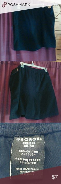 Mens shorts George NWT Men's shorts. Waist 23 with elastic waist. Inseam 7 inches. Never worn. Size 3X. George Shorts Flat Front