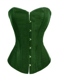 Chicastic Black Satin Sexy Strong Boned Corset Lace Up Bustier Top – Also White & Red – Women's Stylish Lingerie and Accessories Waist Cincher Corset, Lace Corset, Green Satin, Black Satin, Wedding Corset, Wedding Dress, Thing 1, Women's Shapewear, Under Dress