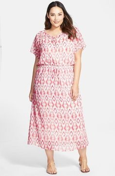 Two by Vince Camuto Drawstring Waist Maxi Dress (Plus Size) available at #Nordstrom