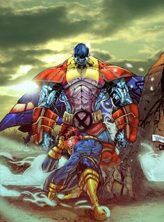 Colossus also known as Piotr Nikolaievitch Rasputin is a fictional character, a superhero in the Marvel Comics universe. He appeared in the X-Men series as one Comic Book Characters, Comic Book Heroes, Marvel Characters, Comic Character, Comic Books Art, Comic Art, Marvel Dc Comics, Comics Anime, Marvel Heroes