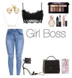 """""""Girl Boss"""" by taneyiah on Polyvore featuring Gianvito Rossi, Givenchy, Smashbox, MAC Cosmetics, Edward Bess and Bulgari"""