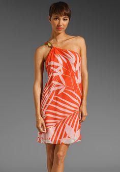Palm One Shoulder Dress - Lyst