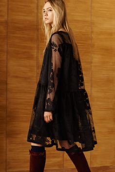See by Chloé Pre-Fall 2016 Collection Photos - Vogue...I keep seeing this A-line-dropped-waist dress, hmmm...