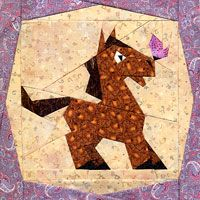 Little Horsey PaperPieced Pattern at paperpanache.com