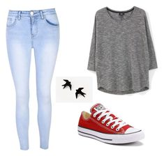 """How to Wear Red Converse"" by kaylee-hanover on Polyvore featuring Glamorous, MANGO and Converse"