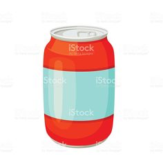 Drinks and soda cans royalty-free stock vector art