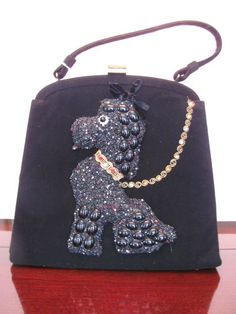 50'S POODLE PURSE BY SOURE. OMG!