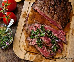 Grilled Flank Steak - Fire up the grill! This tangy and spicy Brazilian flank steak marinade will have your senses singing.