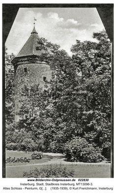 Insterburg, Altes Schloss - Peinturm, Gartenseite