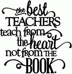 Silhouette Online Store: best teachers teach from the heart - vinyl phrase