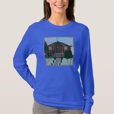 Women's Hanes Long Sleeve T-Shirt RUSTIC CABIN