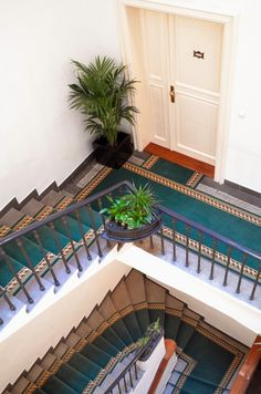 stairs in the Grand Hotel Praha
