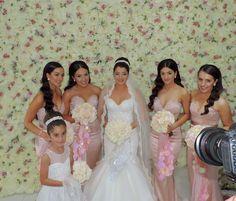 White Pale Pink Bridal Party Wedding Bouquets Dream