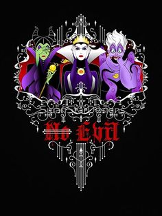 A Disney Villain mashup t-shirt by SwanStarDesigns featuring Ursula, from the Little Mermaid the Evil Queen and Maleficent from Sleeping Beauty. Evil Disney, Dark Disney, Disney Love, Disney Magic, Disney Villains Art, Evil Villains, Disney Pixar, Disney Characters, Evil Queens