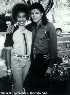 Legendary pop singer Whitney Houston and the king of pop Michael Jackson. Michael Jackson 1988, The Jackson Five, Jackson Family, Janet Jackson, Kino Film, The Jacksons, Billboard Music Awards, American Music Awards, Music Icon