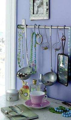 Vintage ladles to organize jewelry