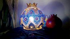 Handmade Gourd Lamp 'A Bohemian Enigma'