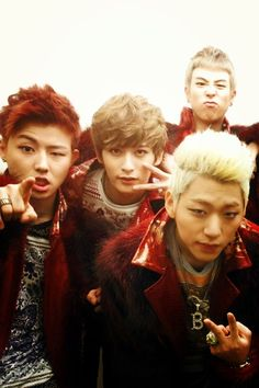 225. U-Kwon, 226. B-Bomb, 243. P.O  and 224. Zico of Block B