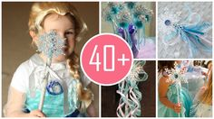 Frozen wands that can make your little girl happy ! 2014 Halloween You must make these !