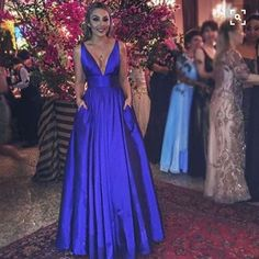 Plus Size Prom Dress, A line V-neckline Prom Gown,Royal Blue Evening Dress,Sexy V-neck Royal Blue Prom Dresses Shop plus-sized prom dresses for curvy figures and plus-size party dresses. Ball gowns for prom in plus sizes and short plus-sized prom dresses Royal Blue Formal Dresses, Royal Blue Evening Dress, Blue Evening Dresses, V Neck Prom Dresses, Evening Gowns, Sexy Dresses, Evening Party, Dress Prom, Pretty Dresses