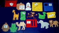 Dear Zoo Flannel Board Felt Story Set and by feltresources on Etsy,