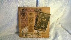 I created this male card using Kraft cardstock and Tim Holtz products.