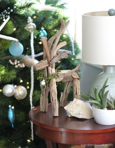 HGTV Gardens: 20 Tips for Holiday Decorating with Nature -  Driftwood Reindeer