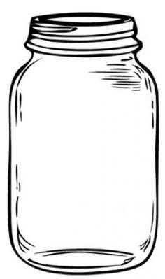 mason jars drawing - Google Search