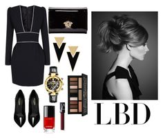 """""""LBD"""" by sandratb on Polyvore featuring The 2nd Skin Co., Yves Saint Laurent, Versace, Kat Von D and NARS Cosmetics"""