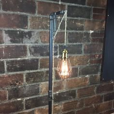 Floor Lamp - Industrial Style - Pendant Edison Bulb  - Hanging Filament Bulb - Steampunk Furniture
