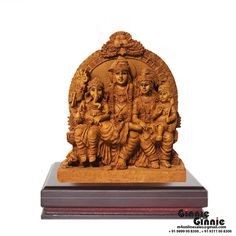 This Ginnie & Ginnie Exclusive Shiv parivar is a product from our Statue & Sculptures Collection. It is made of Fiber Polyresin and it got Natural Finish finish on it. Its approx LxWxH is 4.5x2.5x5.5 inches. It is of approx 710 grams. Unique Code of this product is M400462.06