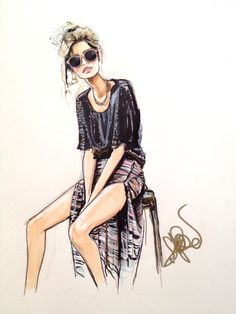 by Jessica Rae Sommer #fashion #illustration #evatornadoblog #mycollection