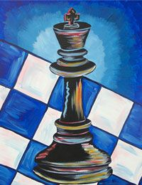 Checkmate King -- perfect canvas painting for Father's Day or a game room.
