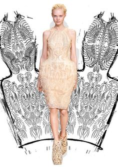 The latest dress of Iris Van Herpen is a combination of dragon skin and printing. Iris Van Herpen, Art Costume, Costume Institute, Trends, Catwalks, Latest Dress, Fashion Over, Wearable Art, Outfit