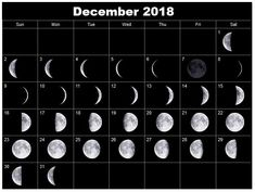 December 2017 Calendar With Moon Phases >> 64 Best Moon Phases Calendar Images In 2019 Full Moon Phases Moon