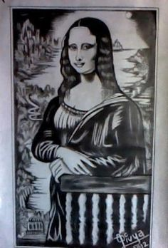 mona lisa - Sketching by Divya Paudel in Divya  at touchtalent