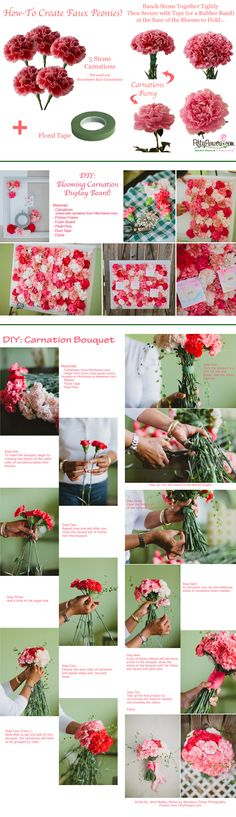 DIY Flower Projects with Carnations!