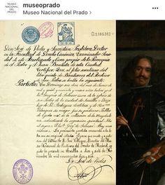 Partida Bautismo Velázquez. Autorretrato