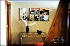 canvas photo display