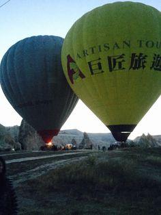 Sunset balloon ride over Cappadocia