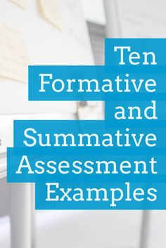 Ten formative and summative assessment examples to add to your repertoire and to inspire you teaching practice immediately! Examples Of Summative Assessment, Assessment For Learning, Reading Assessment, Learning Theory, Teaching Science, Teaching Reading, School Hacks, School Ideas, Nursing Online