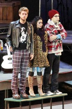 "Vanessa Hudgens, Aaron Tveit, and Skylar Astin in ""Rent"" at the Hollywood Bowl! Wish I could've seen this production!"
