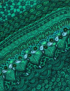 turquoise and teal art pattern. paisley art